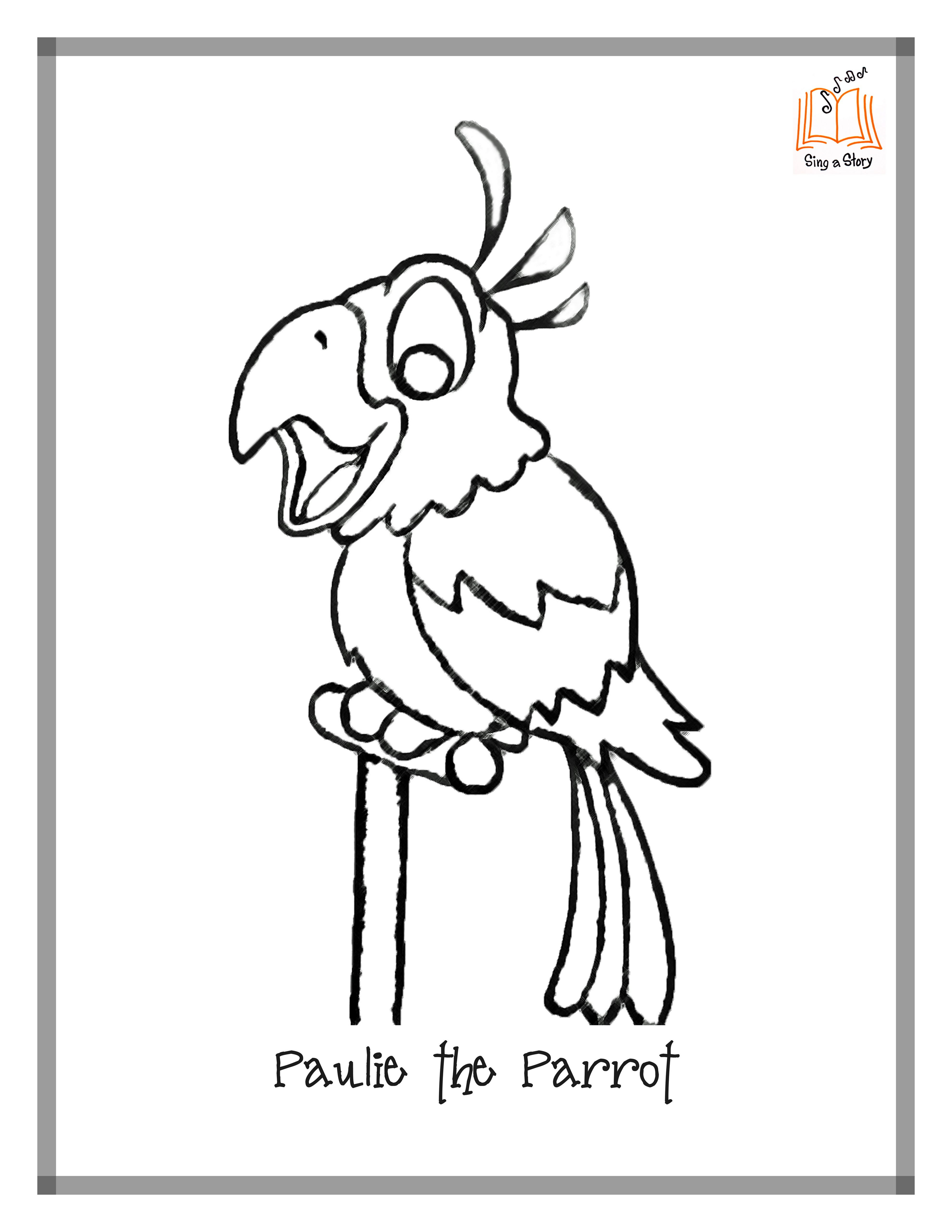 Free Pittsburgh Pirate Coloring Pages Pirate Parrot Coloring Pages