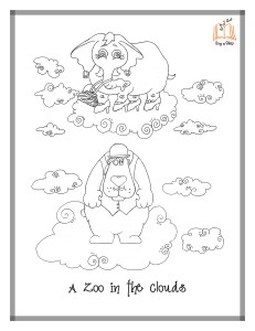 A Zoo in the Clouds coloring page