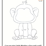 Little Monkey - play doh mat