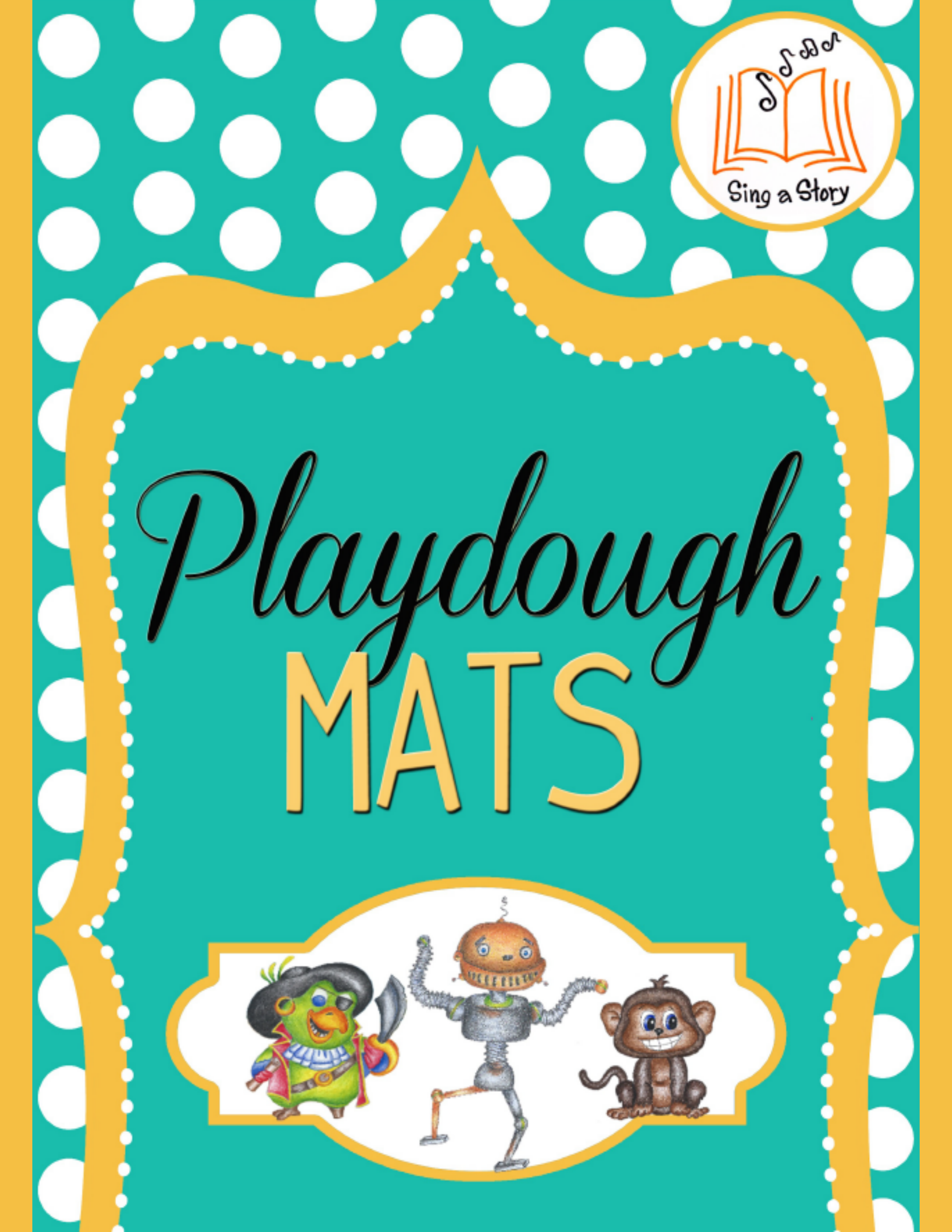 photo relating to Free Printable Playdough Mats identified as Playdough Mats - Sing A Tale