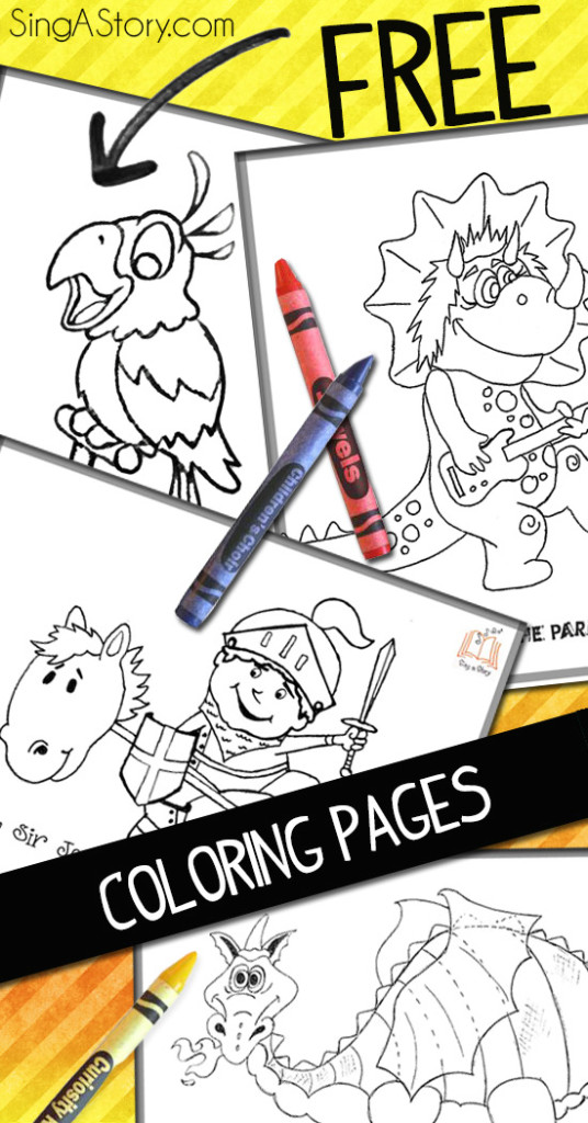 FREE printable coloring pages from SingAStory!