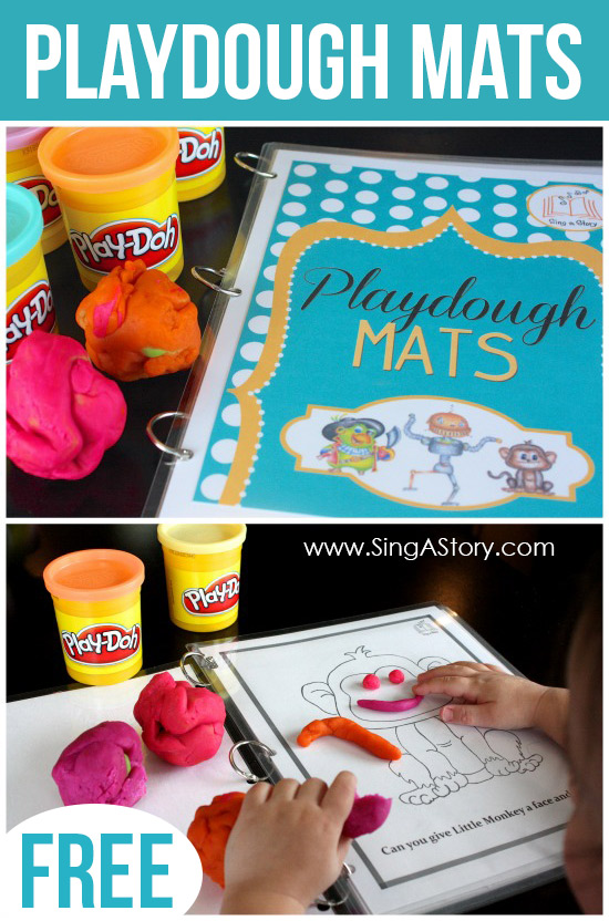 FREE Playdough Mats from SingAStory!