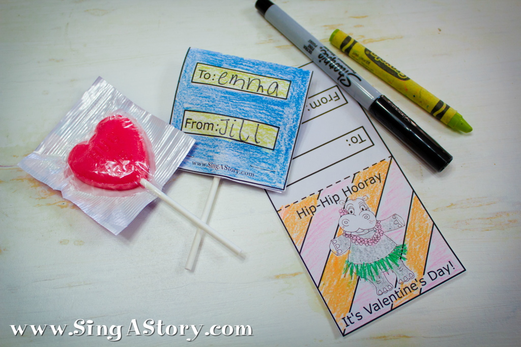 FREE Valentine printables from SingAStory!