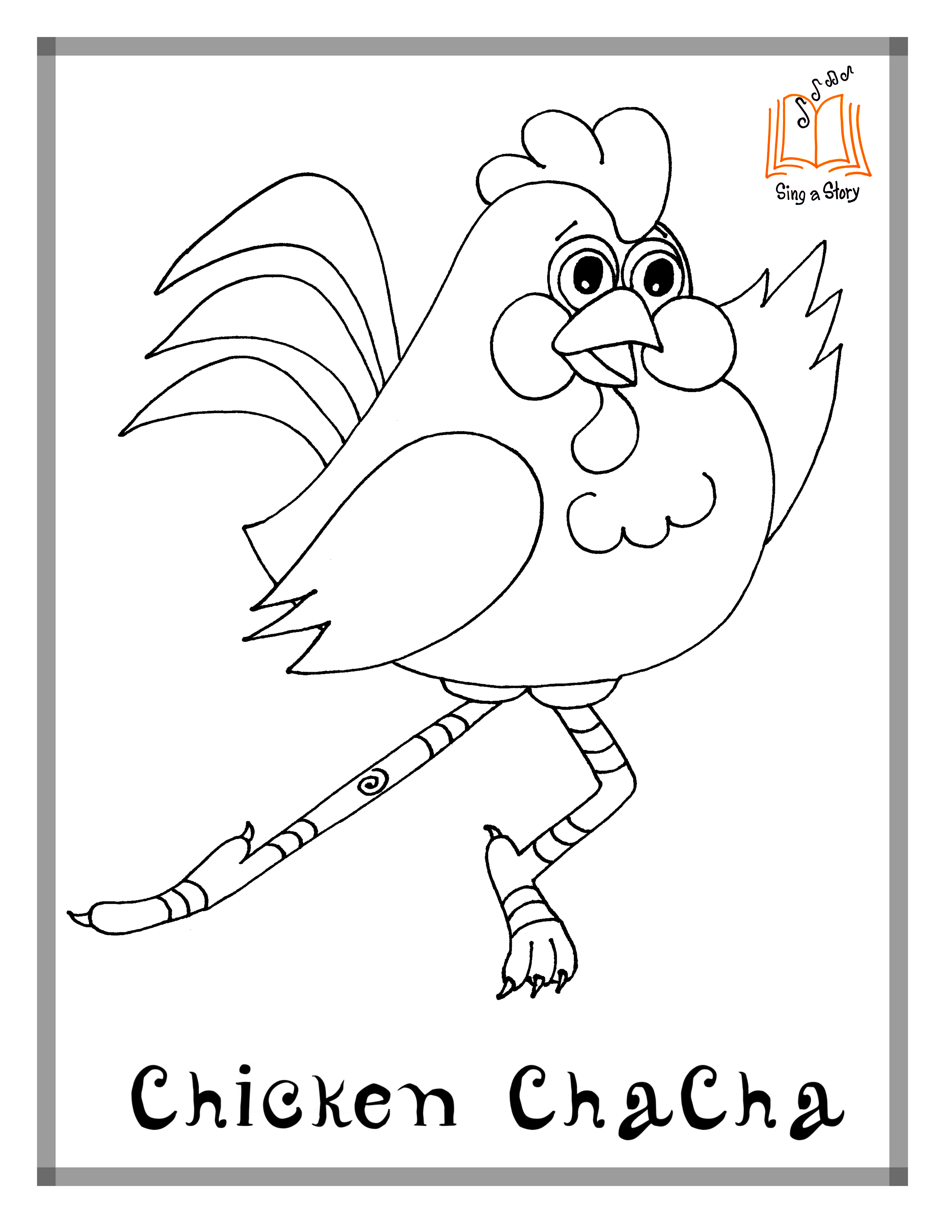 Chicken ChaCha Piggy Paso Hippo Hustle Categories Coloring Pages