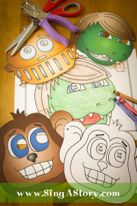 FREE printable masks from SingAStory!