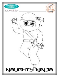 Naughty Ninja coloring page