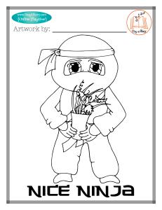 Nice Ninja Coloring Page