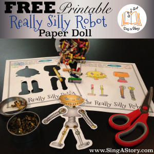 FREE Printable - Really Silly Robot Paper Doll!