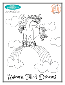 Unicorn Coloring Page 1
