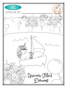 Unicorn Coloring Page 3